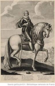 The engraving shows Jacques Nompar de Caumont, <br>Duc de La Force and Maréchal de France.