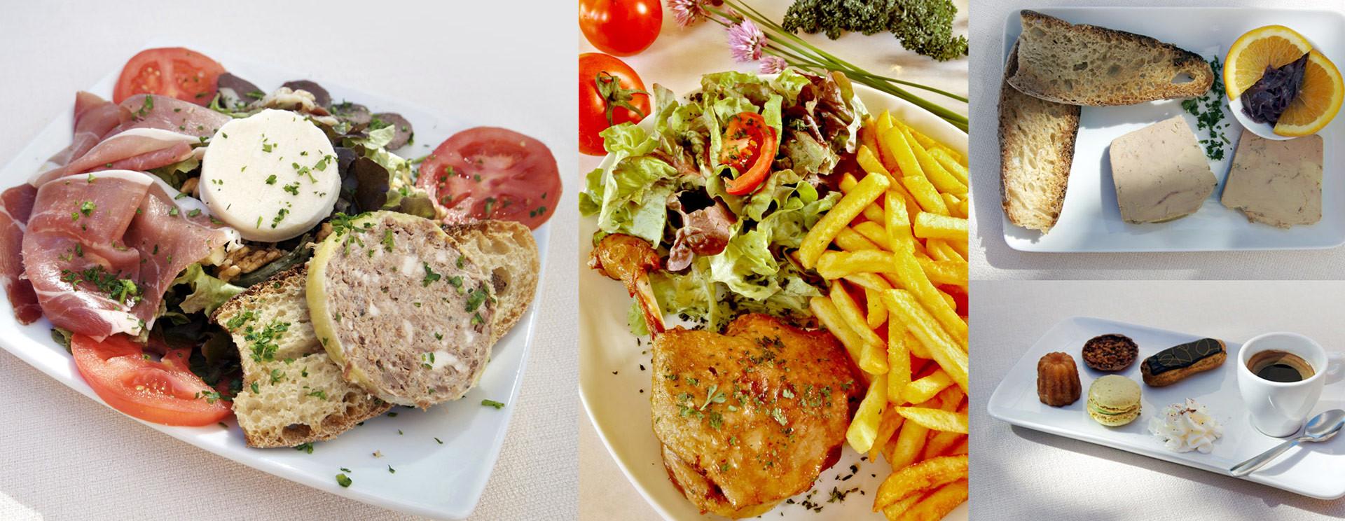 Un déjeuner Périgourdin ou un encas au cours de votre belle visite.