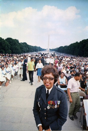 Josephine Baker was the only woman to speak at the Washington March alongside Martin Luther King in 1963.