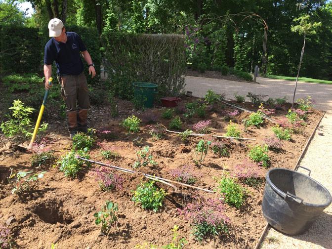 Rencontre discussion avec le chef jardinier.